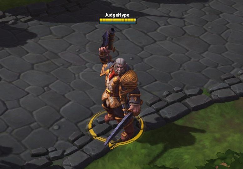 Screenshot de Genn Gristête dans Heroes of the Storm.