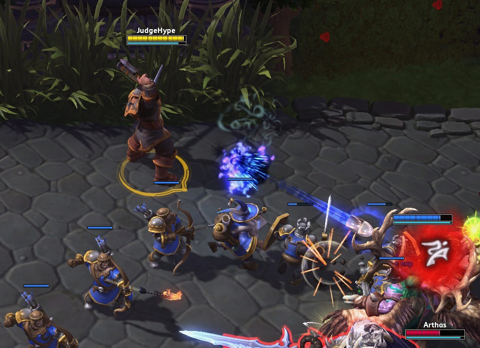 Screenshot de Genn Gristête dans Heroes of the Storm.