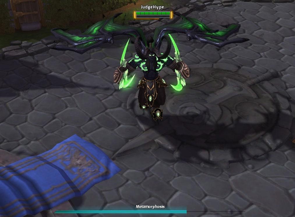 Screenshot d'Illidan dans Heroes of the Storm.