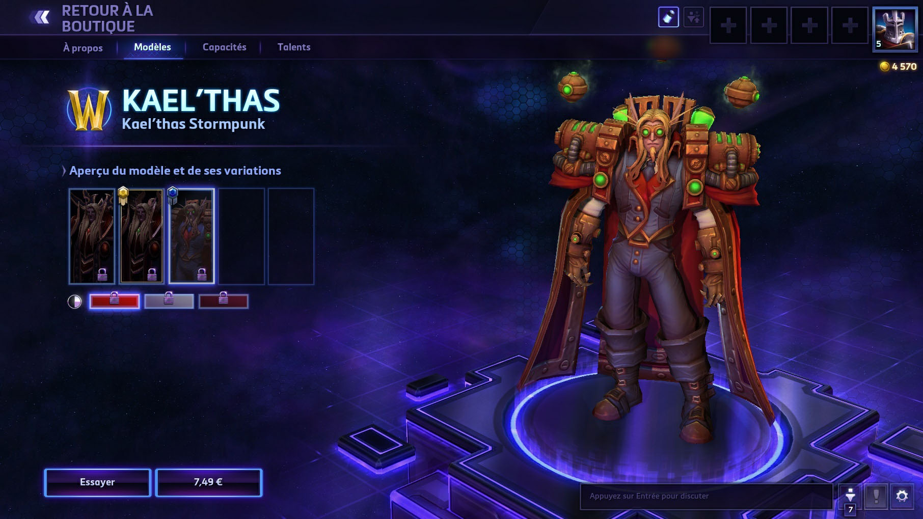 Apparence de Kael'thas dans Heroes of the Storm.