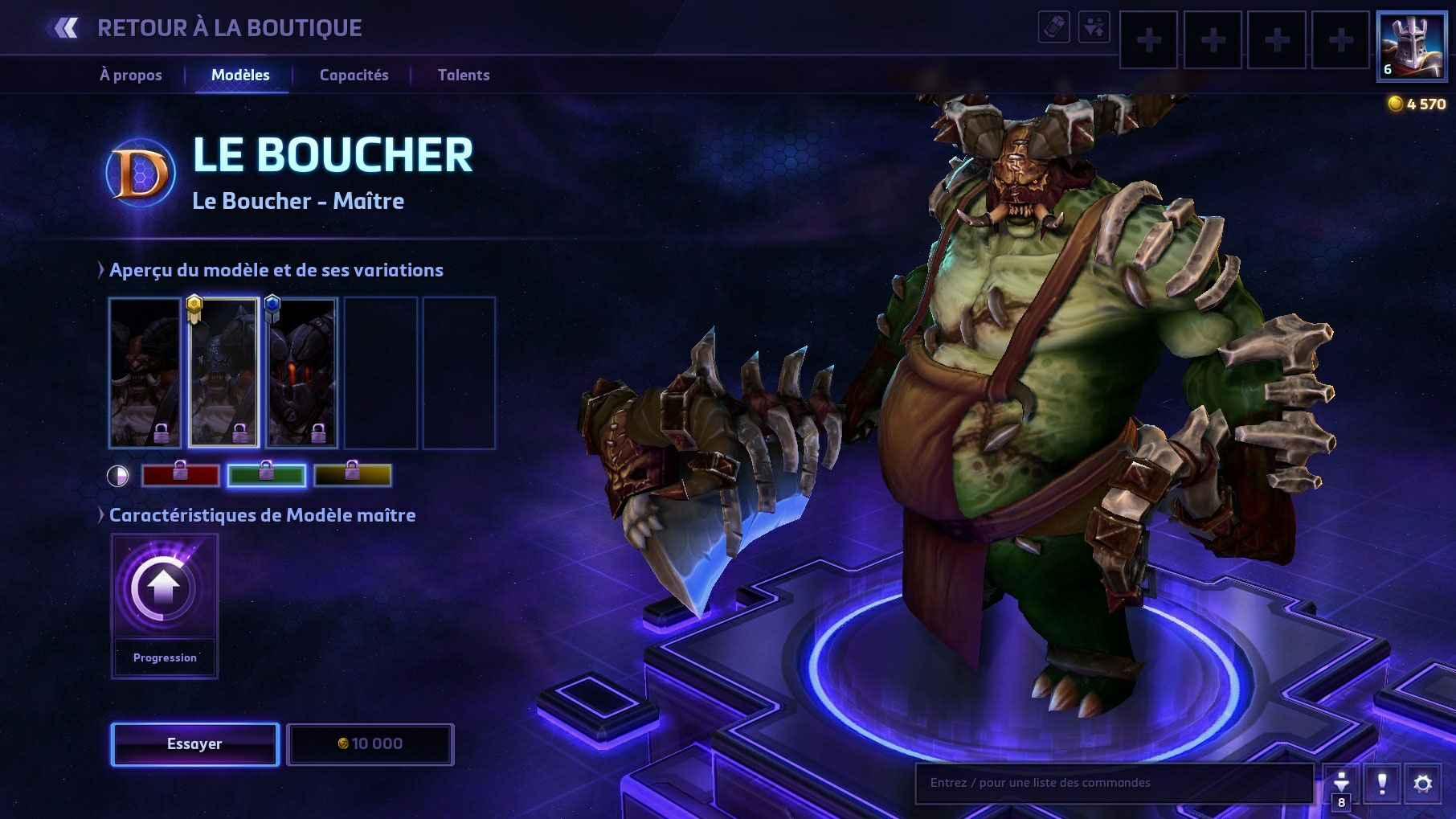 Apparence du Boucher dans Heroes of the Storm.