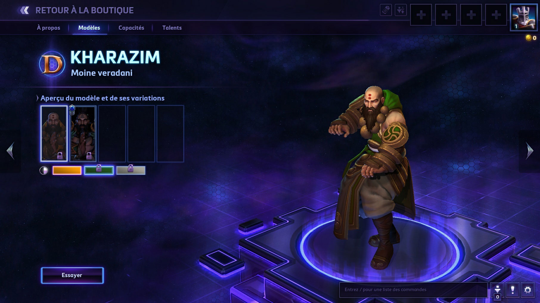Apparence de Kharazim dans Heroes of the Storm.
