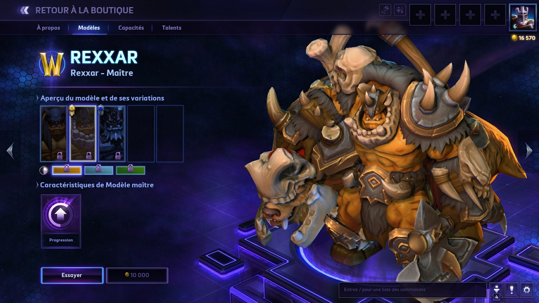 Apparence de Rexxar dans Heroes of the Storm.