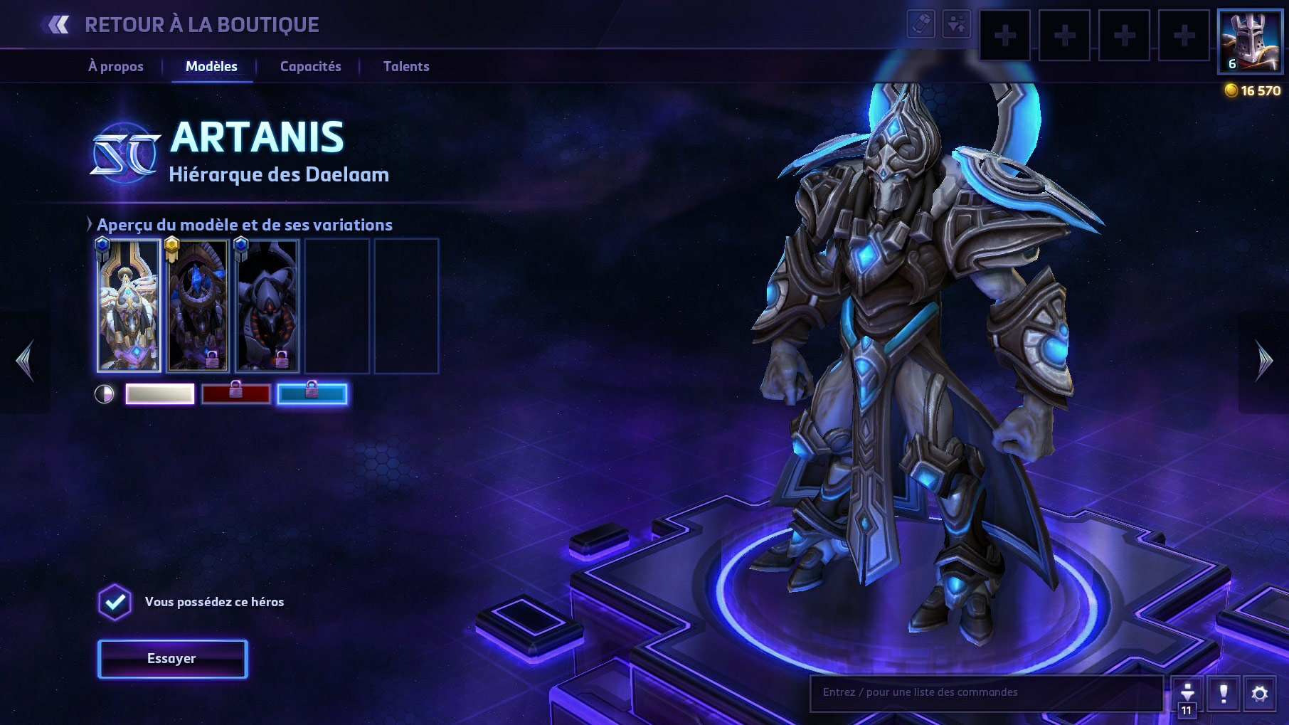 Apparence d'Artanis dans Heroes of the Storm.