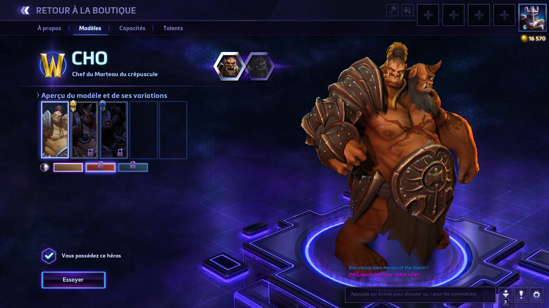 Apparence de Cho'gall dans Heroes of the Storm.