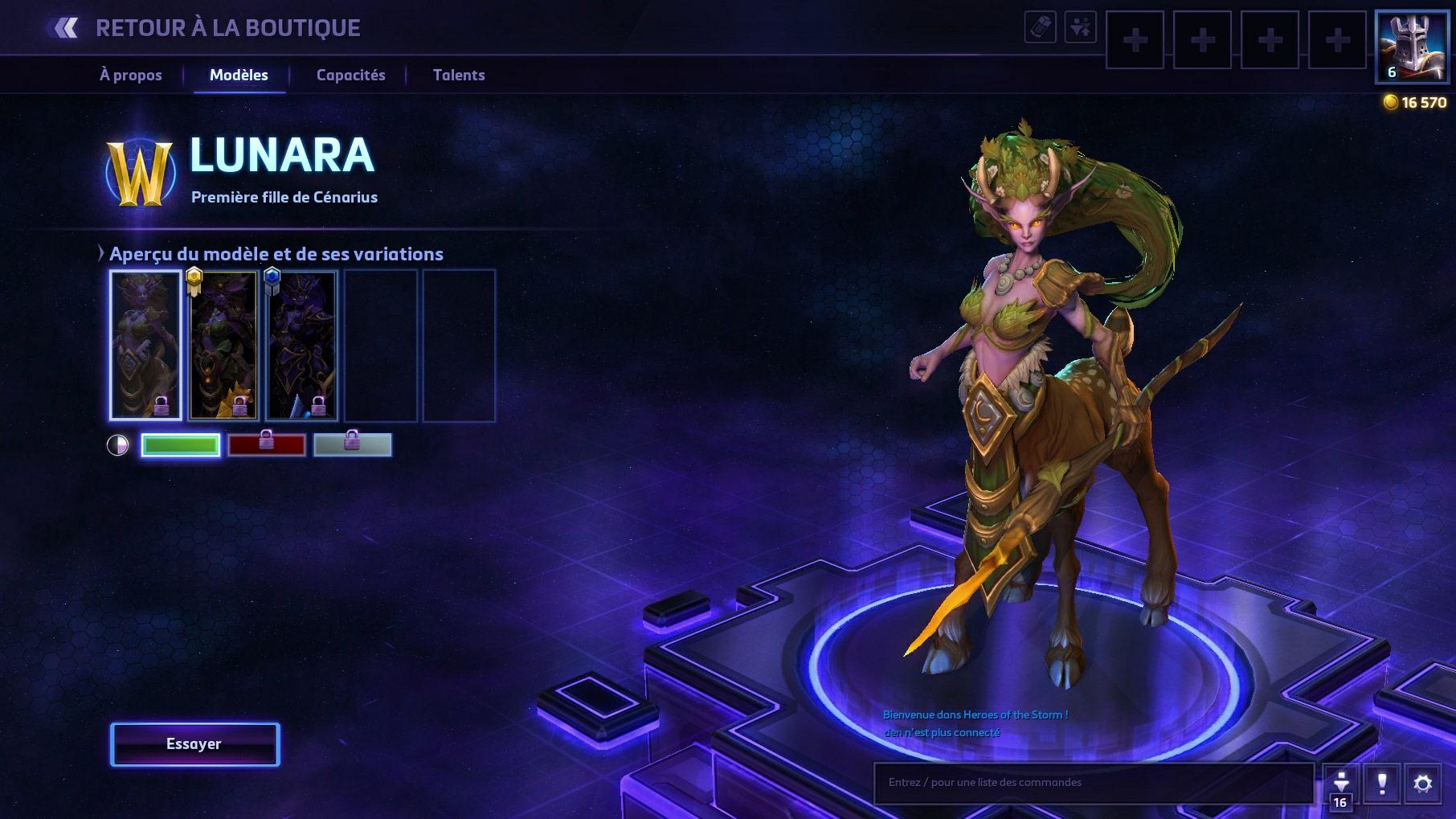 Apparence de Lunara dans Heroes of the Storm.