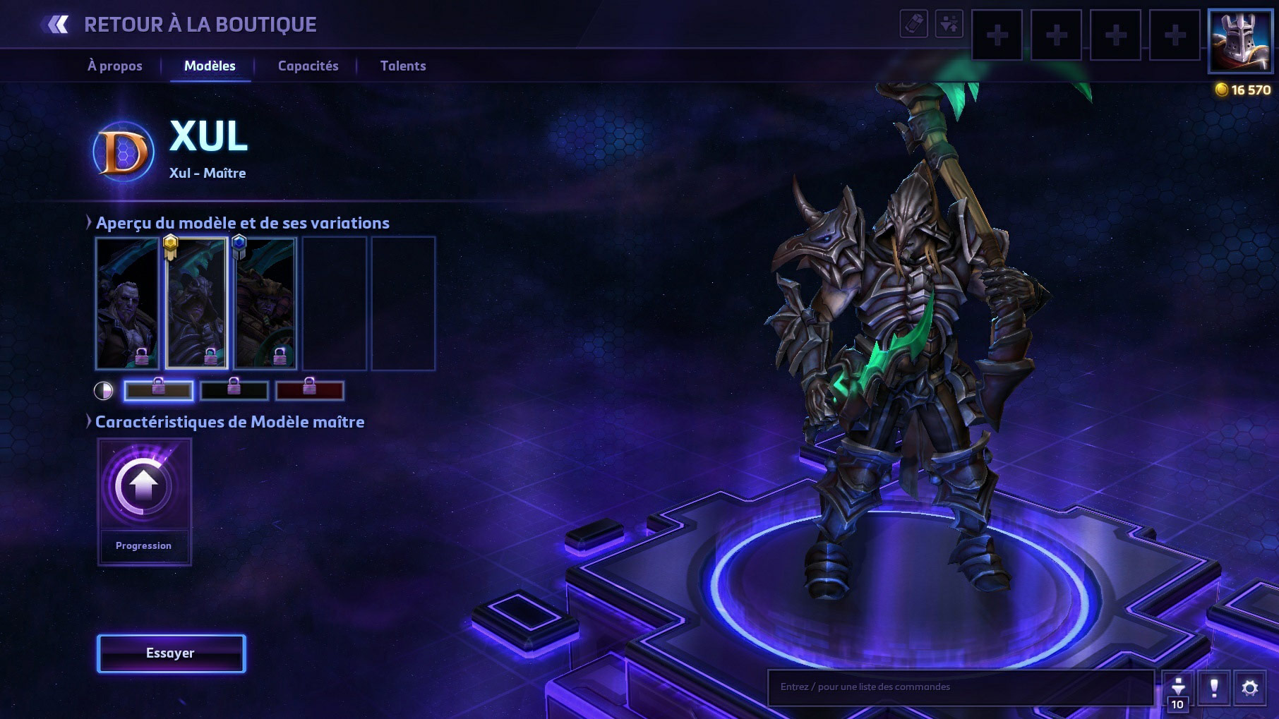 Apparence de Xul le Nécromancien dans Heroes of the Storm.