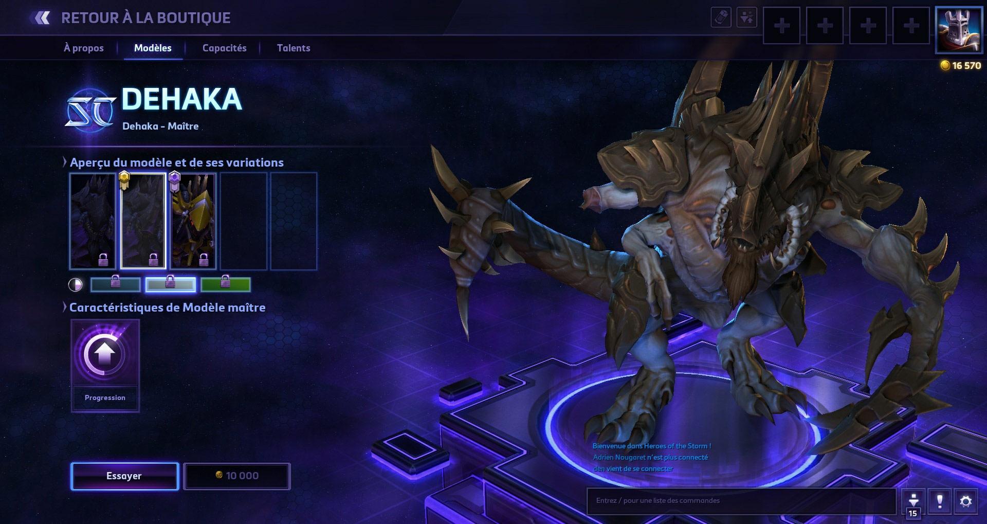 Screenshot de Dehaka dans Heroes of the Storm.