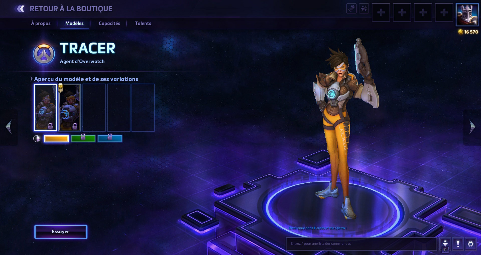 Apparence de Tracer dans Heroes of the Storm.