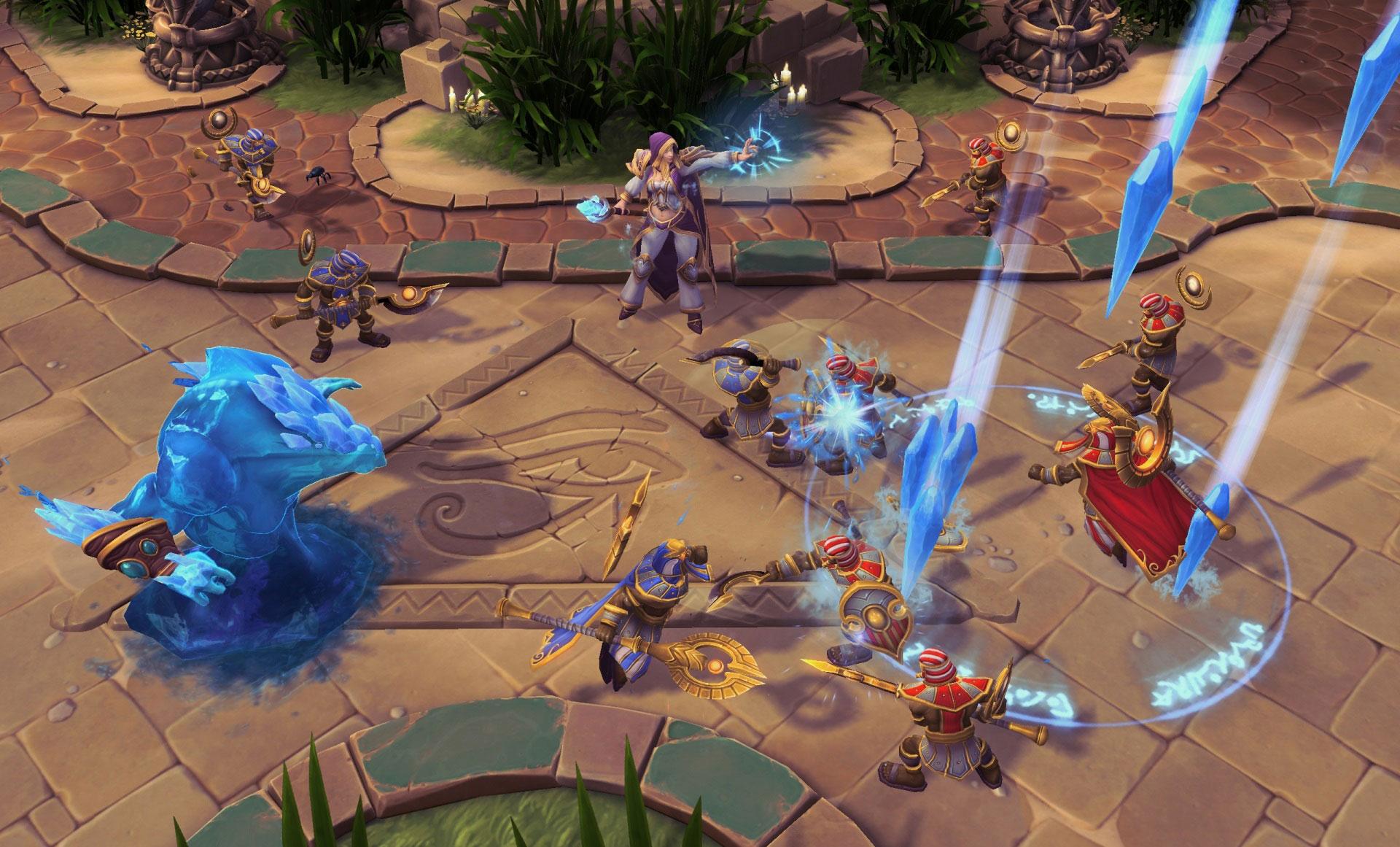 Screenshot de Jaina dans Heroes of the Storm.