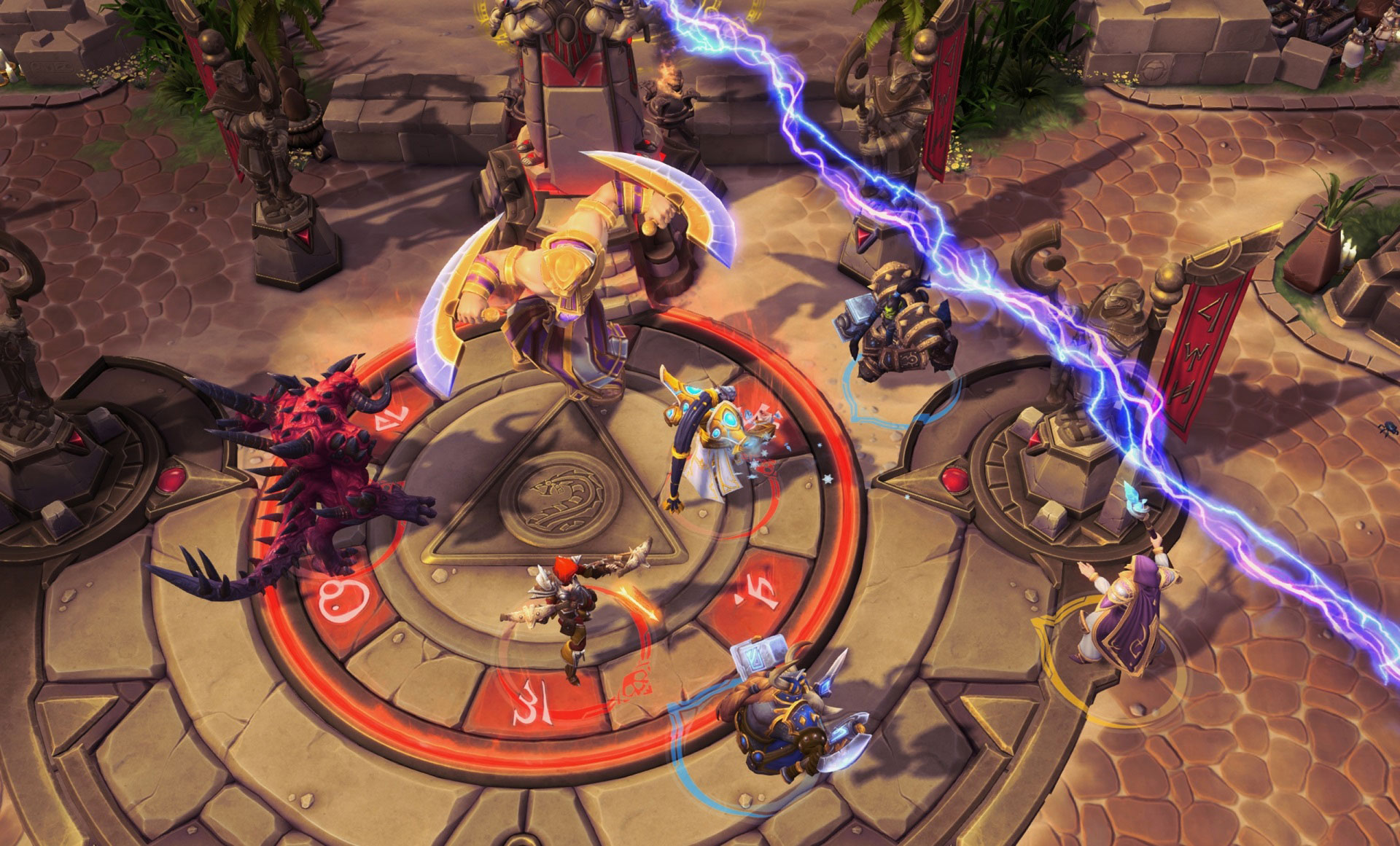 Screenshot de Jaina dans Heroes of the Storm.