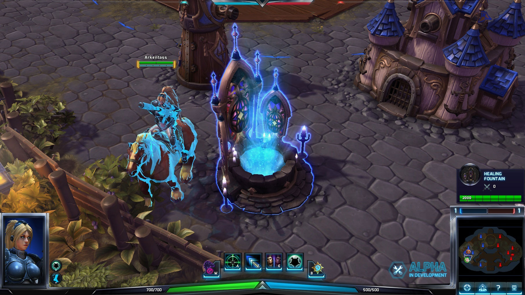 La fontaine dans Heroes of the Storm.