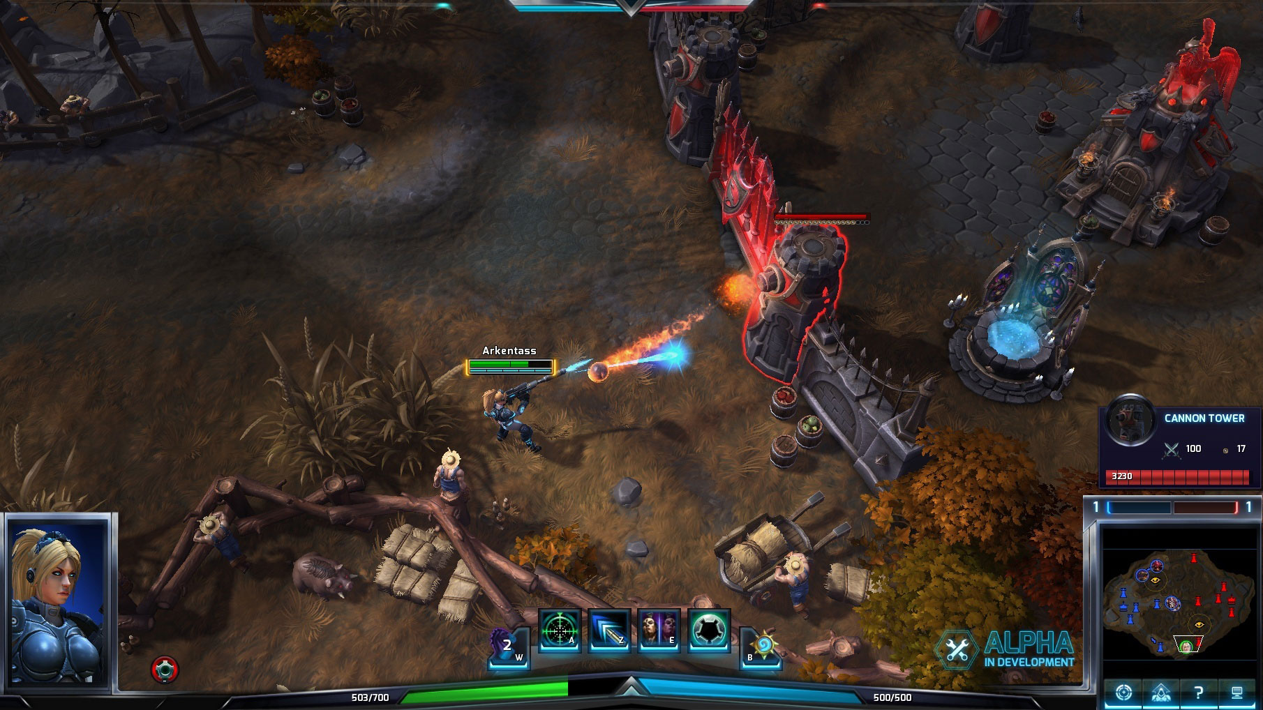 La tour dans Heroes of the Storm.
