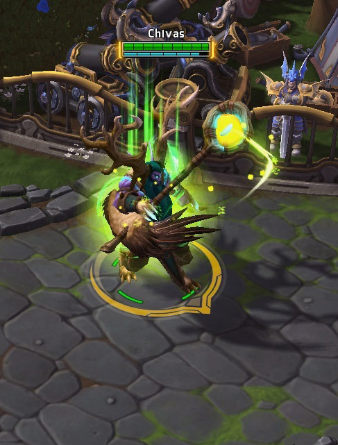 Screenshot de Malfurion dans Heroes of the Storm.
