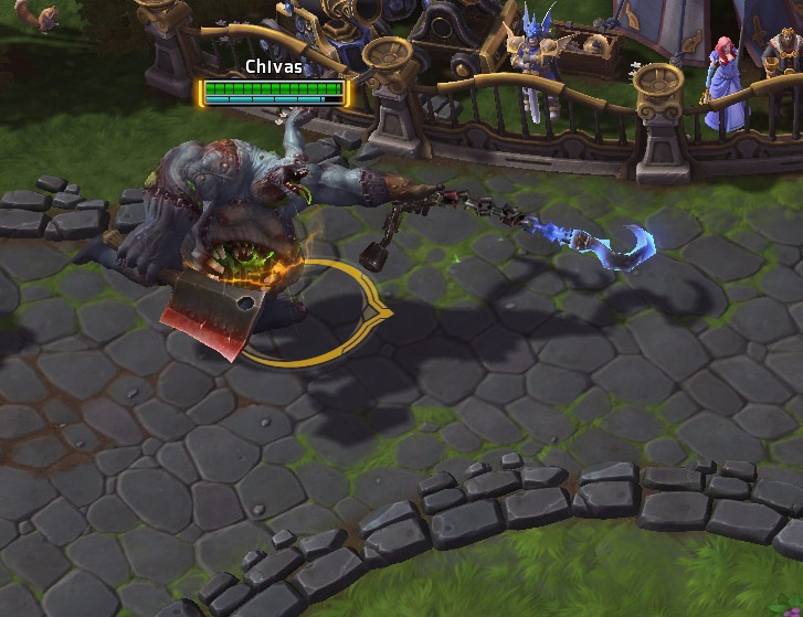 Screenshot de Balafré dans Heroes of the Storm.
