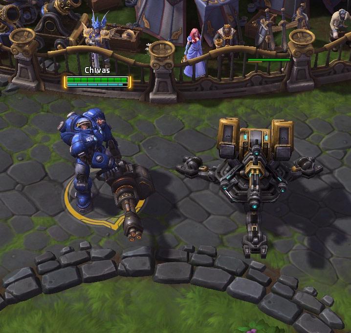 Screenshot de Tychus dans Heroes of the Storm.