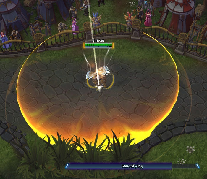 Screenshot de Tyraël dans Heroes of the Storm.