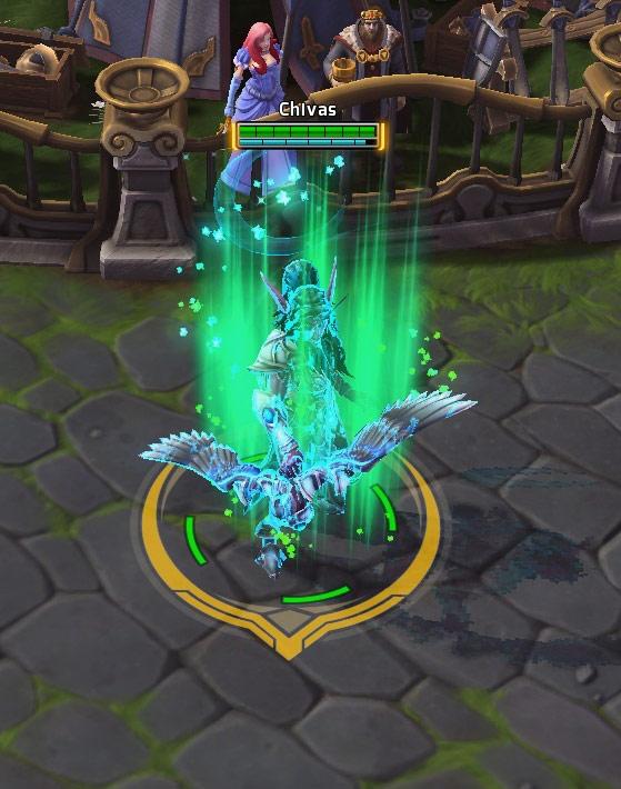 Screenshot de Tyrande dans Heroes of the Storm.