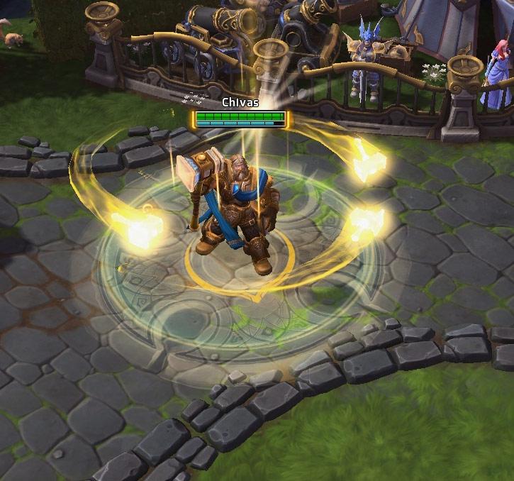 Screenshot de Uther dans Heroes of the Storm.
